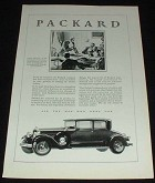 1929 Packard Car Ad, James Monroe NICE!!