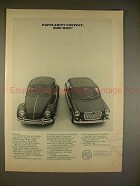1965 MG Sports Sedan Ad - Popularity Contest: Who Won?!