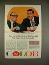 1965 RCA Victor Television Ad, Jack Benny Johnny Carson
