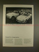 1965 Triumph TR-4 TR4 and Spitfire Ad - Real Sports Car