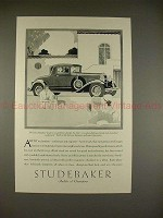 1929 Studebaker President 8 Convertible Cabriolet Ad!