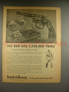 1946 Smith & Wesson 38 Military & Police Revolver Ad - 1,750,000 Twins