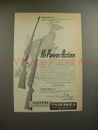 1949 Savage Model 99 & Stevens Model 325 Rifle Ad!