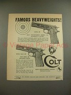1949 Colt Government Model .45 & Super .38 Pistol Ad