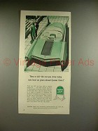 1956 Quaker State Motor Oil Ad w/ Ford Atmos Car!