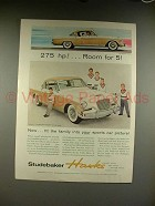 1956 Studebaker Golden Hawk Car Ad - Fit The Family!