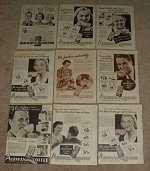 HUGE Lot of 43 Airway Coffee Ads, 1935-1938 - NICE!!