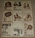 HUGE Lot of 48 Edwards Coffee Ads, 1933-1937 - NICE!!