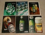 LARGE Lot of 15 Heineken Beer Ads - 1971-1986 - NICE!!