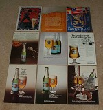 LARGE Lot of 15 Lowenbrau Beer Ads - 1971-1990 - NICE!!