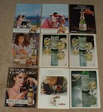 HUGE Lot of 28 Martini & Rossi Vermouth Ads - 1958-1992