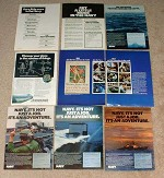 HUGE Lot of 25 U.S. Navy Recruiting Ads - 1972 - 1992