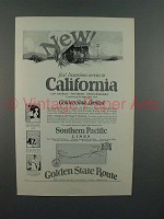 1925 Southern Pacific Lines Golden State Train Ad