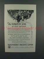 1925 Souterhn Pacific Lines Sunset Limited Train Ad