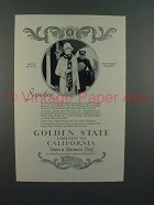 1926 Rock Island System Golden State Limited Train Ad - Superfine