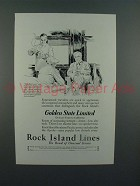 1927 Rock Island System Golden State Limited Train Ad