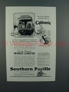 1927 Southern Pacific Lines Sunset Limited Train Ad - See New Orleans