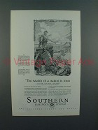 1927 Southern Railway Ad - Wealth of a Nation