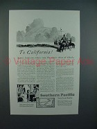 1930 Southern Pacific Lines Railroad Ad - Horizons