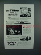 1939 Southern Pacific Lines Railroad Ad - See Twice