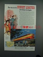 1951 Southern Pacific Lines Sunset Limited Train Ad