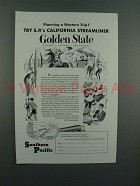 1954 Southern Pacific Lines Golden State Train Ad