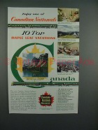 1955 Canadian National Railways Ad - Enjoy Vacations