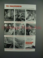 1955 Western Pacific California Zephyr Train Ad - Most Talked About