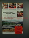 1962 California Zephyr Train Ad - Best of the West