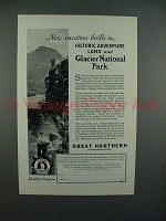 1927 Great Northern Railroad Ad - Vacation Thrills