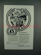 1930 Great Northern Railroad Ad - Come Hike With Us