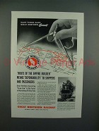 1943 Great Northern Railroad Ad - Empire Builder