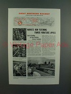 1944 Great Northern Railroad Ad - Wenatchee Apples