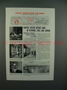 1944 Great Northern Railroad Ad - Lighter, Faster Cars