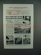1944 Great Northern Railroad Ad - Skilled Ground Crews