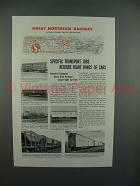 1945 Great Northern Railway Ad - Specific Transport