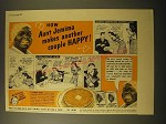 1940 Aunt Jemima Pancakes Ad - How Aunt Jemima makes another couple happy!