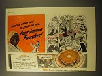 1941 Aunt Jemima Pancakes Ad - Here's a Happy Way to Start De Day