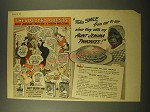 1944 Aunt Jemima Pancakes Ad - Folks Smile from ear to ear when they eats my