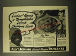 1945 Aunt Jemima Pancakes Ad - Ladies! Here's a Temptilatin' Lunch Chilluns Love