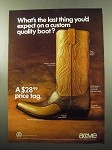 1969 Acme Chapparal Boot Ad - Last Thing You'd Expect