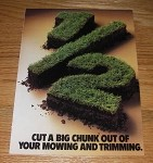 1985 4-page Monsanto Limit Turf Regulator Advertisement - Cut a Big Chunk Out