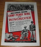 1939 4-page Winchester Repeating Arms Advertisement - Camp Perry Wins