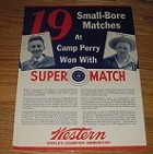1937 8-page Western Ammunition Advertisement - 19 Matches at Camp Perry Won