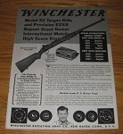 1936 4-page Winchester Advertisement - Model 52 Target Rifle, Precision EZXS