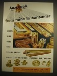 1946 2-page Anaconda Copper Alloys Advertisement - From Mine to Consumer