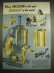 1946 2-page Anaconda Copper & Brass Advertisement - Spencer Microscopes
