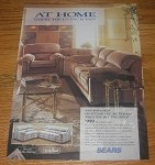1990 4-page Sears Ad - Banning sofa, Royal Court Linens, Sears-O-Pedic Mattress
