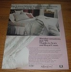 1990 4-pg Sears Ad - Royal Court Linens, Stratolounger Furniture, Sealy Mattress