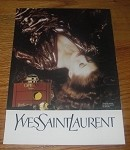 1990 2-page Neiman Marcus Yves Saint Laurent Opium Perfume Advertisement!